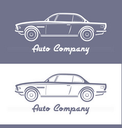 design concept with classic style car vector image