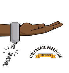 Celebrate freedom juneteeth race equality vector