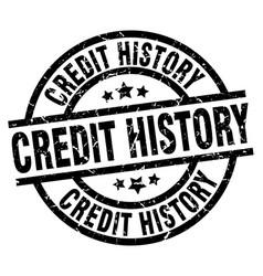 Credit history round grunge black stamp vector