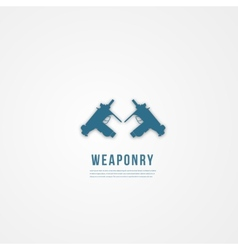Abstact weapon template flat icon vector