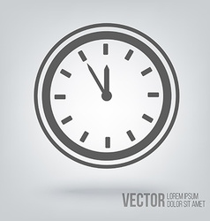 Clock icon isolated black on white background vector