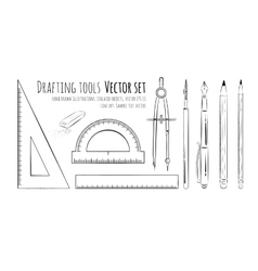 Drafting tools vector image