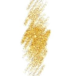 Gold glitter sparkles bright confetti background vector