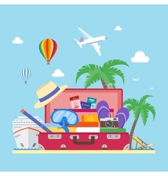 Travel concept in flat style vector