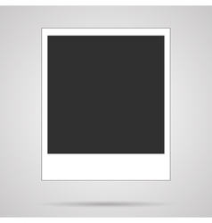 Blank polaroid card on white vector