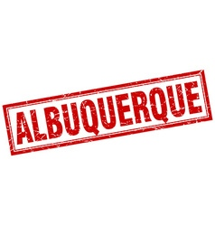 Albuquerque red square grunge stamp on white vector