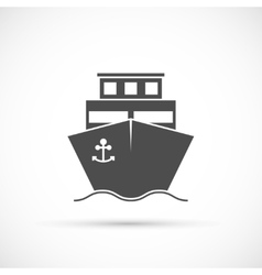 Ship icon isolated vector