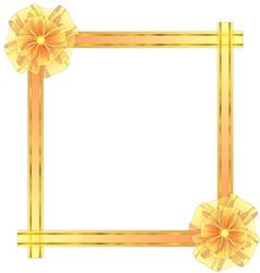 Square frame with bow vector
