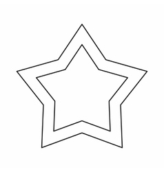 Star icon outline style vector image