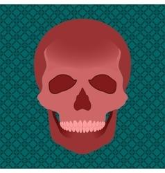 blood skull vector image