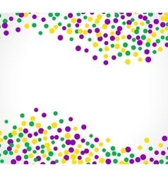 Bright abstract dot mardi gras pattern vector image