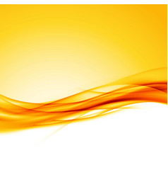bright orange swoosh wave border background vector image vector image