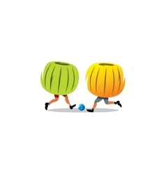 Bumper ball sign sport game vector