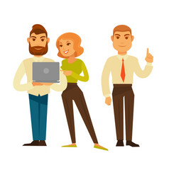 Business people or office managers and workers vector