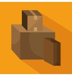 Cardboard box cargo shipping design isolated vector
