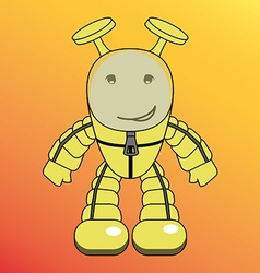 Cartoon humanoid alien or robot vector