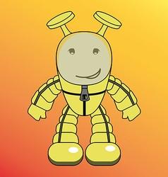 Cartoon humanoid alien or robot vector