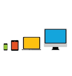 Computing concept on different electronic devices vector