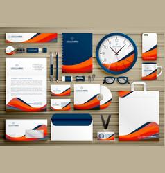 Corporate identity business template design set vector