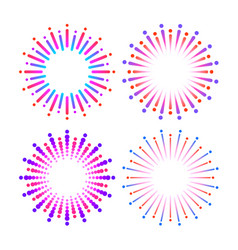 Graphic fireworks vector