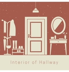 Hallway interior vector image vector image