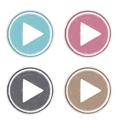 Hand Drawn Play Buttons vector image vector image