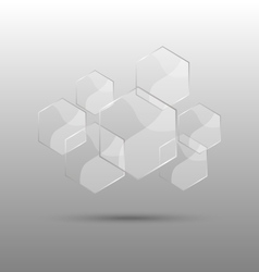 Hexagon abstract background with transparent vector
