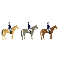 horse riders vector image vector image