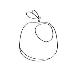 isolated apple fruit icon vector image