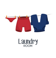 laundry room flat icons vector image vector image
