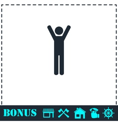 Man icon flat vector image vector image