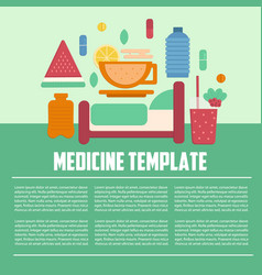 medicine template flat style vector image vector image