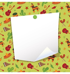 mexican note paper vector image