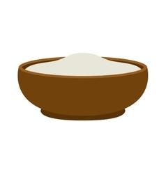 Pudding dessert vector image