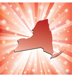 Red New York vector image