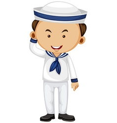 Sailor in white uniform vector image vector image