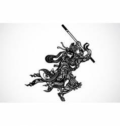 Samurai warrior vector