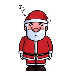 Santa Claus sleeping and snoring vector image