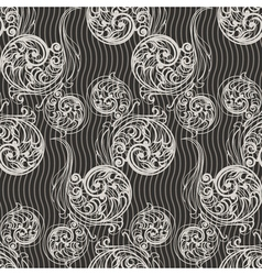 Seamless swirls background vector