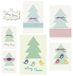 Set of winter colorfull greeting card for party vector