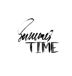 summer time hand drawn lettering vector image vector image