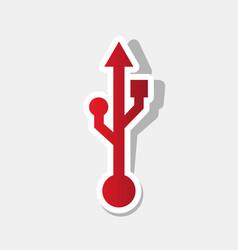 Usb sign new year reddish vector
