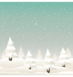Winter Christmas vector image vector image