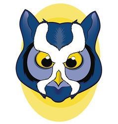 Blue owl face vector