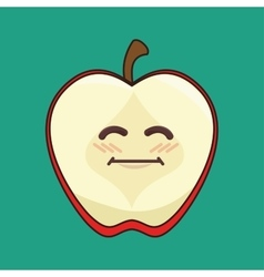 Fresh fruit character isolated icon vector