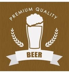 Premium quality beer label vector
