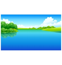 Lake green landscape vector