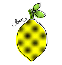 Stylized lemon vector