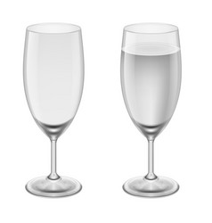 Empty wineglass and a wineglasses with water on vector