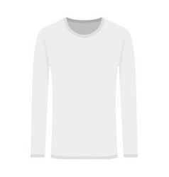 white long-sleeved in flat vector image